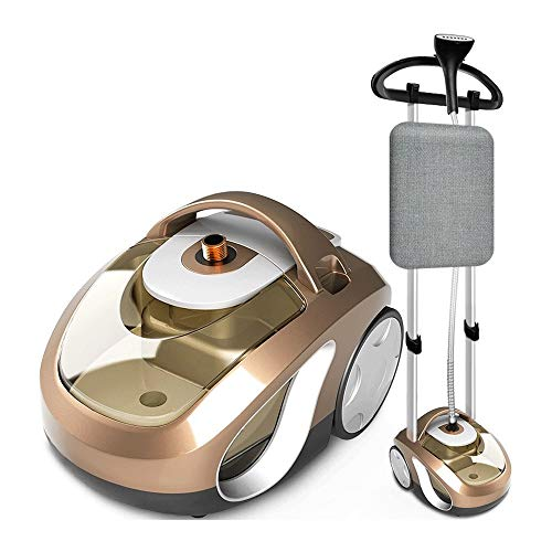 LC_Kwn Steam Hanging Ironing Machine Household Small Iron Ironing Clothes Handheld Vertical Hanging Double-Rod Ironing Machine Intelligent (Color : Gold)