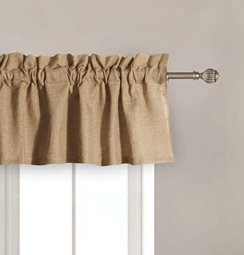 Greenland Home Burlap Window Valance, Natural