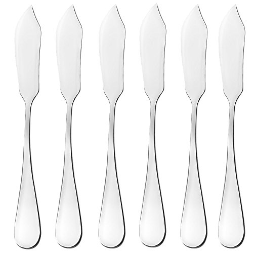 Butter Knife, Cheese Knife, Cheese Spreaders, AOOSY Cute Mini 5.91 inches Stainless Steel Kitchen Knives for Butter Sandwiches Cheese Breakfast,Packs Of 6 (Butter Knife in The Box)