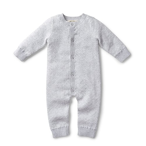 Hope & Henry Layette Heather Grey Romper -