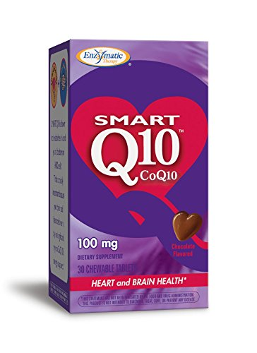 100 Mg Chewable (Enzymatic Therapy Smart Q10, CoQ10, 100 mg, 30 Chewable Tablets)