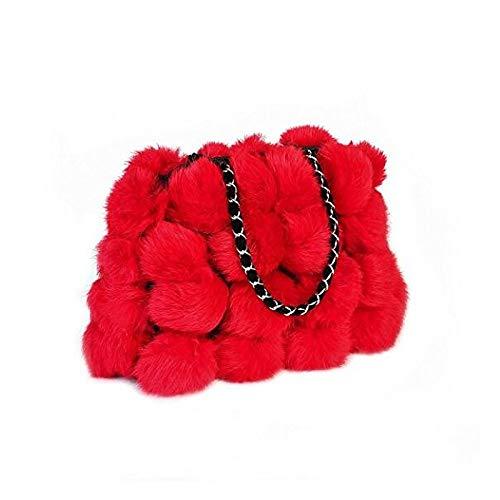 Sacs rouge Capacité Tout Grande main À Rouge De Camel PU Plumes QZTG à Main Fourre Gris Femme Sacs sac pwaUqTv