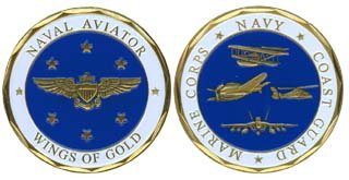 United States Naval Aviation 'Wings of Gold' Challenge Coin (Wing Challenge Coin)