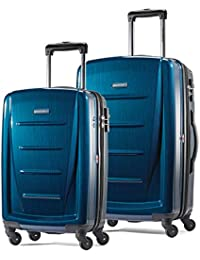 Winfield 2 Hardside Expandable Luggage with Spinner Wheels, Deep Blue, 2-Piece Set (20/24)