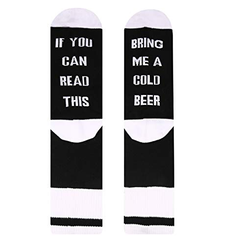 Zmart Men's If You Can Read This Socks With Saying Bring Me Taco Bacon Sushi Beer Whiskey Wine Coffee Gifts Socks