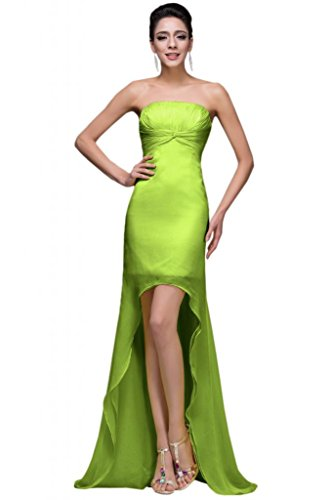 sunvary alta baja sin tirantes vestidos de fiesta vestidos de cóctel Trailing lime green