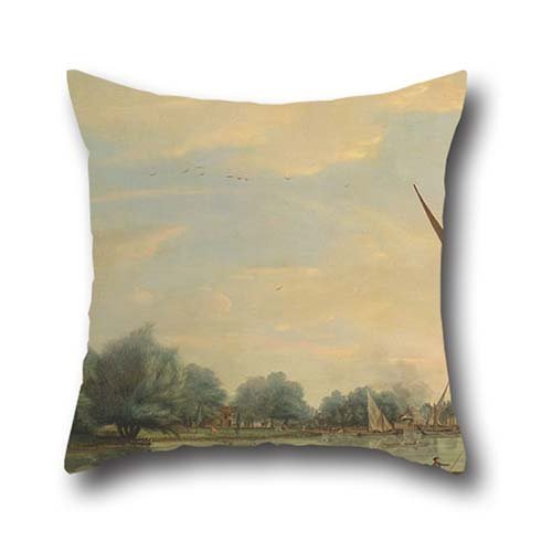 [Oil Painting Thomas Whitcombe - The Thames At Chelsea Pillow Cases 16 X 16 Inches / 40 By 40 Cm Gift Or Decor For Car Seat,club,gf,teens Boys,kids Girls,office - Double] (Six Million Dollar Man Costume)