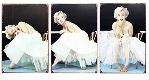 Marilyn Monroe Classical Retro Tin Sign - 11.8'' X 7.87'' - 3pcs/lot -