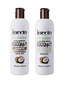 inecto pure coconut shampoo conditioner amazon co uk health
