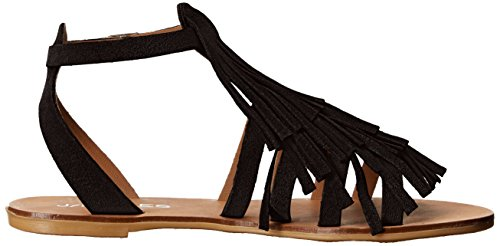 JSlides Sandal Black Kai Women's Flat twnt6qr