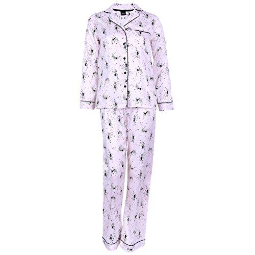 Disney Tinker Bell, bedruckter Damen Pyjama, 2-tlg. Schlafanzug-Set, Satin
