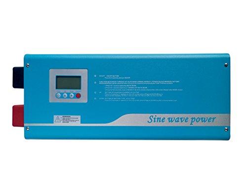 Edenfashion 3000W Digital Intelligence DC 24V to AC 120V Pure Sine Wave Inverter, Solar Inverter for Wind and Solar Power System