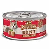 Merrick Purrfect Bistro Grain Free Beef Pate Canned Cat Food, 3 oz., Case of 24