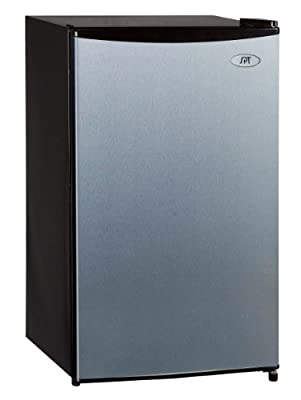 SPT RF-334SS Compact Refrigerator, 3.3 Cubic Feet, Stainless Steel, Energy Star