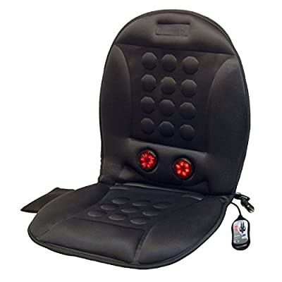Wagan Ergo Comfort Rest Heated Massage Cushion with AC Adapter