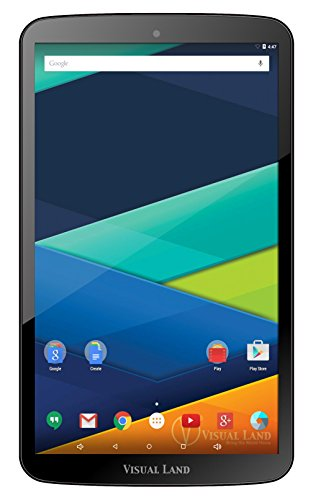 "Visual Go ashore Prestige Elite 10QS - 10.1"" QuadCore Lollipop 5.0 Android Tablet, 16GB, IPS 1280x800 HD Screen, WiFi, Bluetooth ( Dark )"