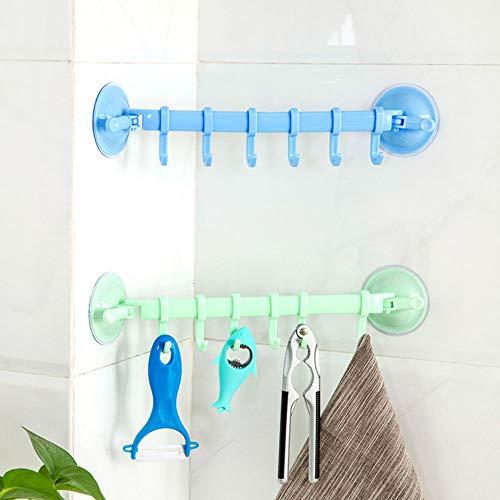 Agordo Towel Utensil Rack Hangers Plastic Holders 6 Hooks Kitchen Hanging Shelves