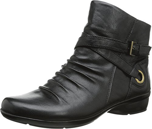 Naturalizer Women's Cycle Bootie, Black Leather, 6.5 M US