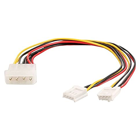 - 41J095BJz 2BL - C2G 03165 One 5.25 Inch to Two 3.5 Inch Internal Power Y-Cable, Multi-Color (10 Inch)