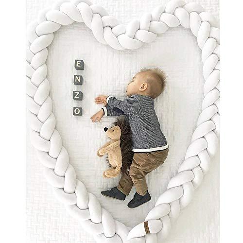 Auwer 2018 Sweet Baby Crib Bumper Knotted Braided Plush Nursery Cradle Decor Newborn Gift Pillow Cushion Junior Bed Sleep Bumper (G)