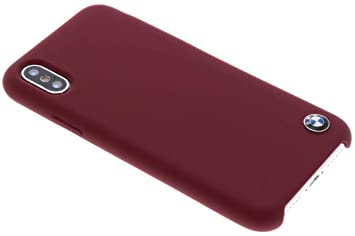 new products 1b61a 2f95d BMW Genuine Leather Hard Cell Case for Apple iPhone X - Red
