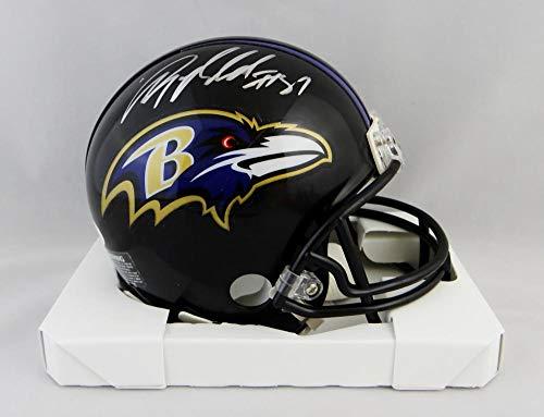 Anquan Boldin Autographed Baltimore Ravens Mini Helmet - JSA W Auth Silver