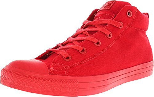 Converse Mandrin Taylor All Star Street Mi-cheville-haute Sneaker Rouge / Rouge / Rouge