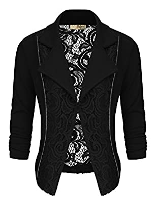 HyBrid & Company Women's Casual Work Lace Blazer Jacket Made In USA