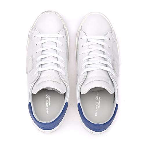 Model Bianca Paris E Philippe In Pelle Bianco Sneaker Bluette Bd7cOwq1O