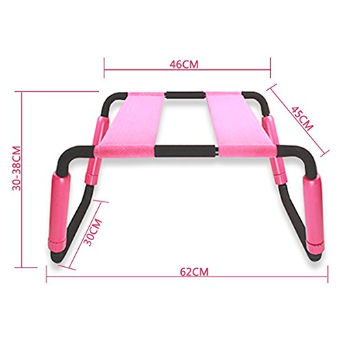 Positon Chair Upgraded Elastic Folding Bed Chair Multifunction Chair Bedroom Furniture Reading Chair (Pink) by Roomfun
