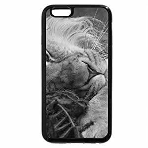 iPhone 6S Case, iPhone 6 Case (Black & White) - The Lion and the Christmas Tree for my lovely friend Patrice Lioness