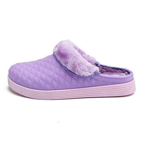 BADIER Breathable Mens Outdoor Lightweight Purple Womens Non Slippers Shoes Breathable Winter Sole High Cotton Indoor Mesh Clogs Slippers Slip Garden Beach Warm Lined Quality qrXqwB5
