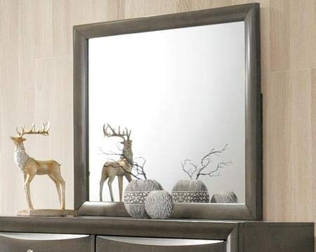 - ACME Furniture  Ireland Mirror, Gray Oak