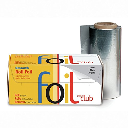 Product Club Smooth Foil Roll, Silver, 5x250 Inch by Product Club