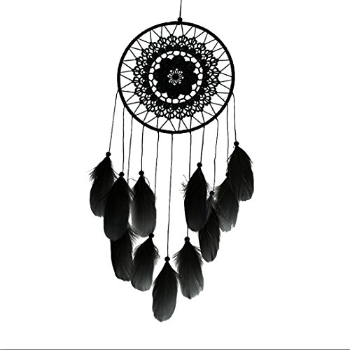 Transer Handmade Lace Dream Catcher Feather Bead Hanging Decoration Ornament Gift (Hanging Lace)