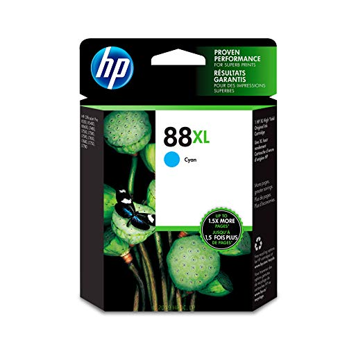 HP 88XL Cyan Ink Cartridge (C9391AN) for HP Officejet Pro K5400 K550 K8600 L7580 L7590 L7680 L7780