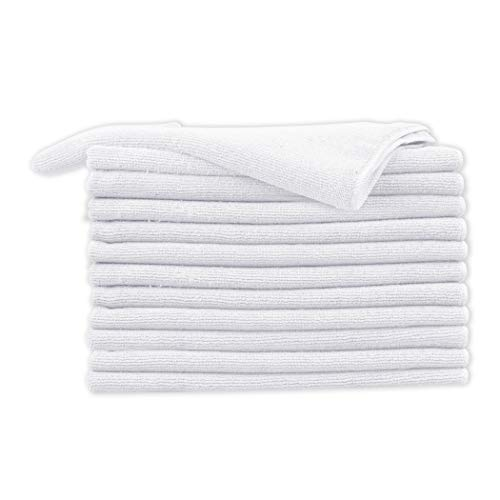 - CARTMAN Microfiber Cleaning Cloth, Thick & Large Model, 350GSM 15.7 in x 23.6 in, 12pk (White)