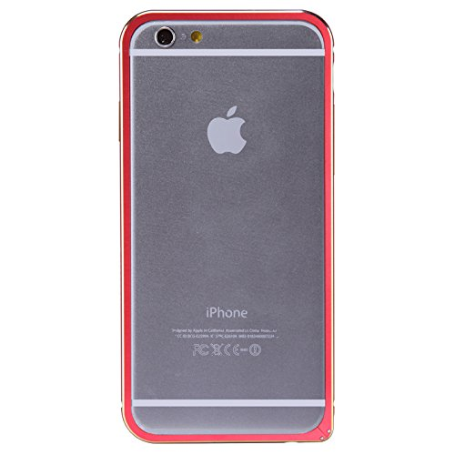 (HS-TOP  ® NILLKIN border Frame Case Cover Metall Rüstung, Rand Conque Slim Hülle für APPLE iPhone 6 (4.7 Zoll), Rot