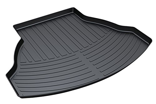 Premium Cargo Floor Mat Waterproof Anti-Slip Car & Trunk Tray Mat Protector Cover in Heavy Duty for Honda Accord Ninth Generation (2012-2017), Black (Liner Accord Trunk Honda)