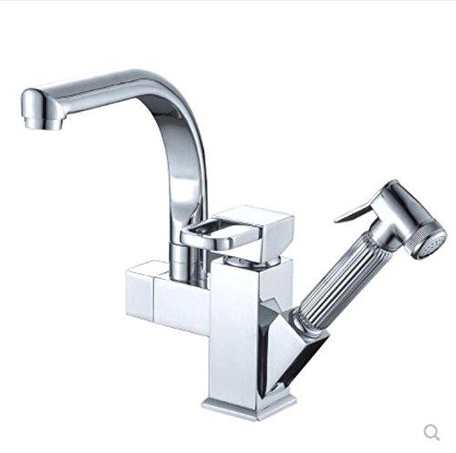 Decorry Küche unter Druck, dann auf Alle Kupfer Waschen gemäße Becken, Ziehbaren Wasserhahn, Kalt, tropischen Hochdruck Armatur Sprinkler Keramikscheibe Schieber.