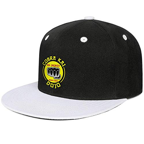 SHTHYTS Mens Cobra-Kai-Dojo-No-Mercy-Snake-fist-Logo-Adjustable Snapback Hat Custom Hunting Trucker Dad Baseball Cap -
