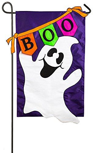 Boo Ghost Garden Flag