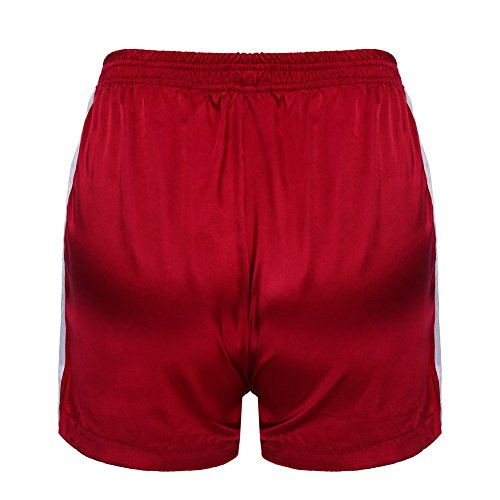 Loose Donna Tasche Moda Sport Pantaloncini Casuale Jogging Righe Media Estate Per Fitness Vita Corti Con Rosso Fit Pantaloni A Shorts Yying Taglie Forti wxTYFq7Iw