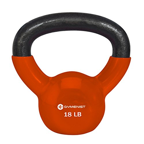 Gymenist Exercise Kettlebell Fitness Workout Body Equipment Choose Your Weight Size (18 LB)