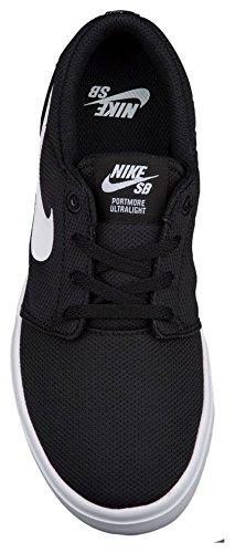Nike Portmore II Ultralight (GS), Zapatillas de Skateboarding Para Niños Negro
