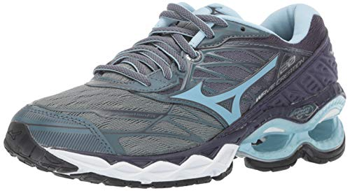 b5430e5527 Mizuno Women's Wave Creation 20 Running Shoe, Graphite-Cool Blue 7.5 ...