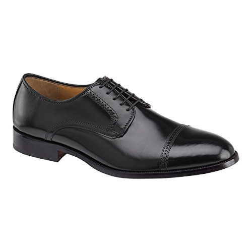 Johnston & Murphy Mens Bradford Cap Toe Black