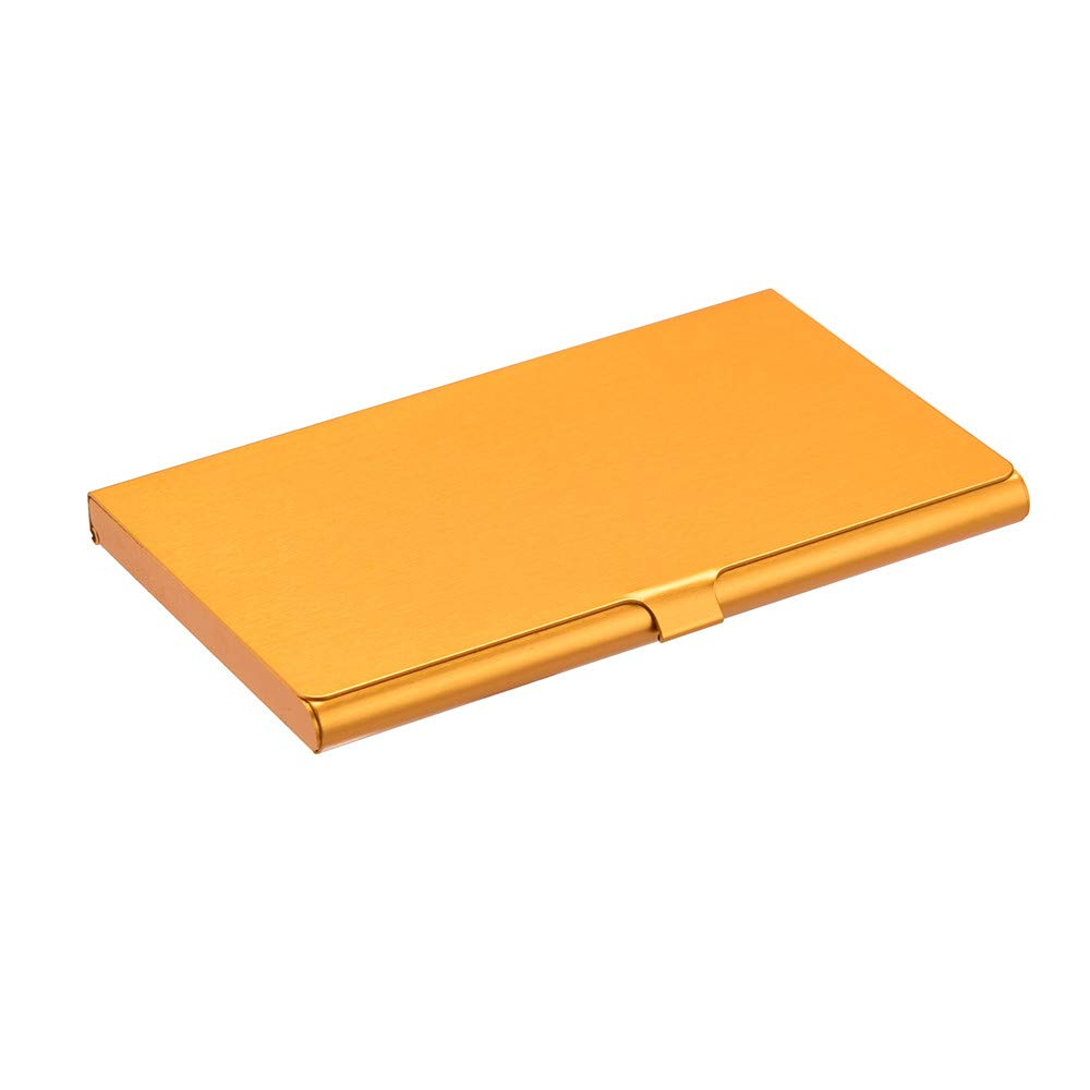 Sonmer Creative Aluminum Holder Metal Cover Credit Business Card Wallet (Gold)