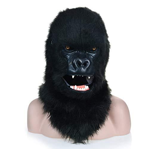 Festa delle Maschere XIANGBAO Maschera Animale Gorilla Nero con Mouth Mover ( Colore   nero , Dimensione   2525 )