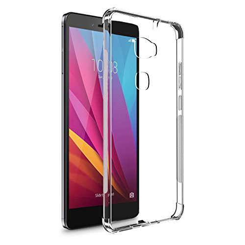 [2 Pack] Huawei honor 5x Case, SPARIN [Precise Design] [Anti Watermark]  [Scratch Resistant] [Shock Absorbing] Frosted Clear TPU Case for Huawei  honor